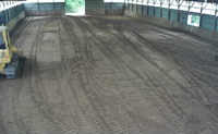 Indoor being leveled